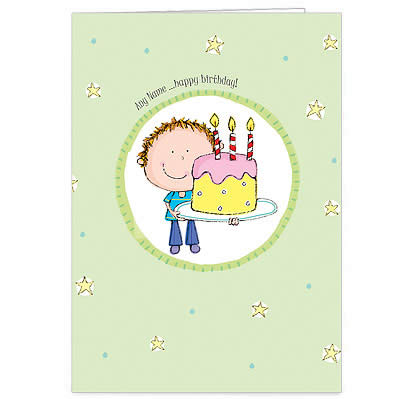 Personalised Birthday Card - Birthday Cake