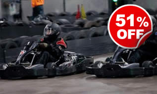 50 Lap Karting Race for Two, Was £99, Now £49