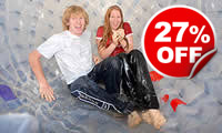 Aqua Zorbing for Two, Was £74, Now £54
