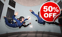 Indoor Skydiving for Two, Was £99, Now £49