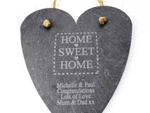 Home Sweet Home Large Slate Heart