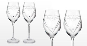 Swarovski Heart Wine Glasses