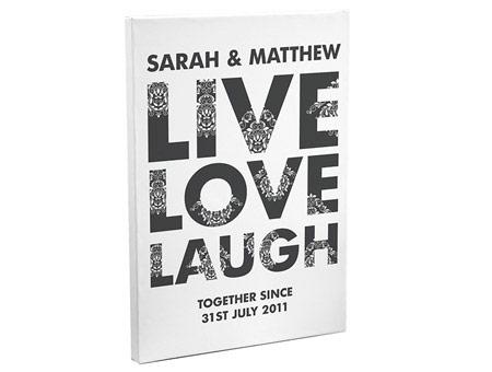 Image of Live Love Laugh Canvas