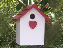 Handmade Hanging Red Heart Bird House
