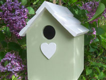 Handmade Hanging Green Bird House