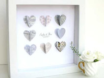 Silver Anniversary Paper Hearts