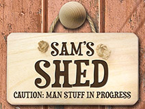 CAUTION - MAN STUFF Personalised Wooden Sign
