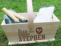 Personalised Head Gardener Trug