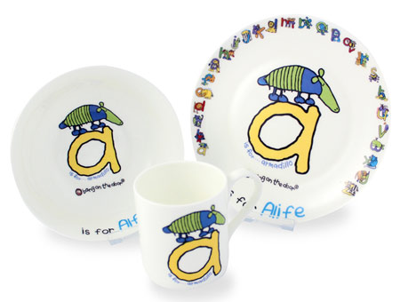 Bang On The Door Animal Alphabet Boys Breakfast Set