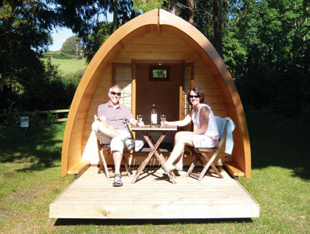 image of One Night Camping Pod Break For Two