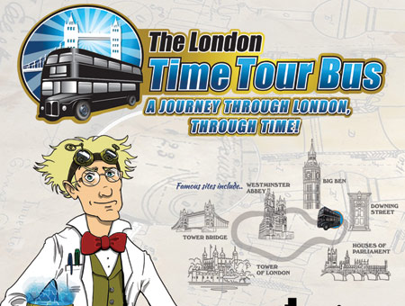 image of The London Time Tour Bus and Guide Book for Two, Was £49, Now £24